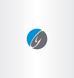 Blue black letter c logo circle icon vector