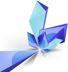 blue crystal background vector image