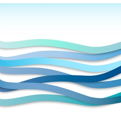 blue wavy stripes vector image vector image