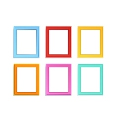 Colored photo frames vector image vector image