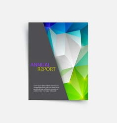 Cover magazine geometric shapes info-graphic for vector