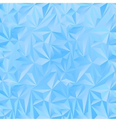 Crystal ice triangles blue background vector
