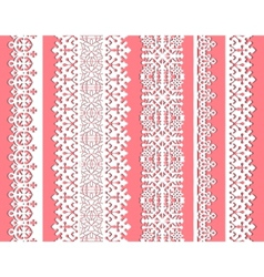 cute straight seamless lace set vector image vector image