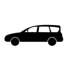 family car the black color icon vector image vector image