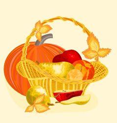 Fruits celebratory christmas thanksgiving celebra vector image vector image