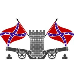 glory of confederacy stencil second variant vector image