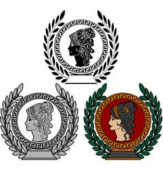 glory of roman woman vector image vector image