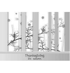 happy thanksgiving in paper cut style vector image vector image