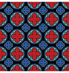 Medieval stained glass gothic seamless pattern vector