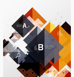 modern square composition abstract banner vector image