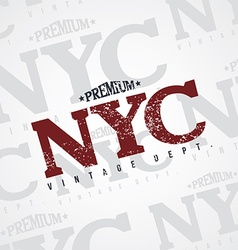 new york varsity theme vector image