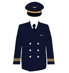 Pilot uniform vector image vector image