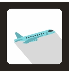 Plane taking off icon flat style vector image