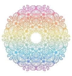 Round rainbow mandala background vector image vector image