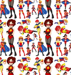 Seamless superhero male and female vector