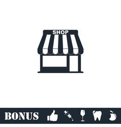 Shop icon flat vector image vector image