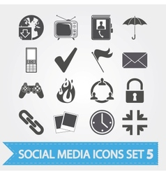 Social media icons set 5 vector image