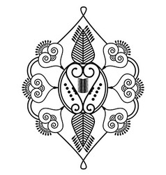 Two leaves shape inspired by henna tattoo vector