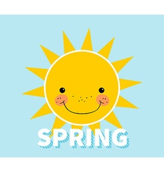 Cartoon spring background sun cloud design concept vector
