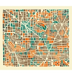 Background city map vector image