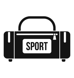 Large sports bag icon simple style vector