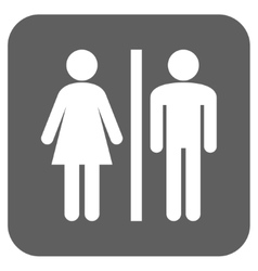 Wc persons flat squared icon vector