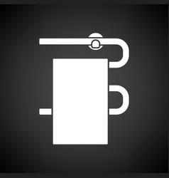 Heated towel rail icon vector