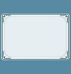 blue background and frame vector image