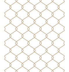 Golden wire seamless mesh eps 10 vector