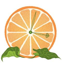 slice of orange as clock vector image