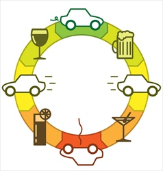Driving and drinking vector image