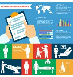 Medical infographic set vector