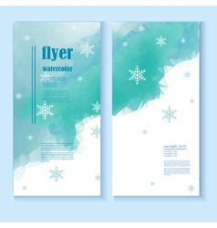 Flyer template with a winter background vector