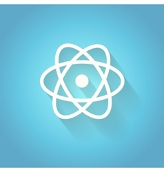 Atom molecule the symbol of physics and vector