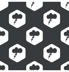 Black hexagon thunderstorm pattern vector