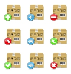 Delivery shipping icons vector image