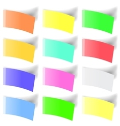 Set of colorful notes vector