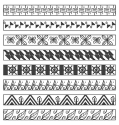 Set of ornamental borders vector