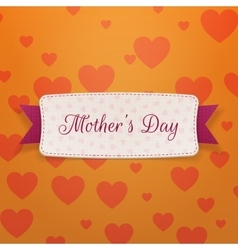 Mothers day realistic festive banner with ribbon vector