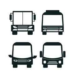 bus icon set design vector image