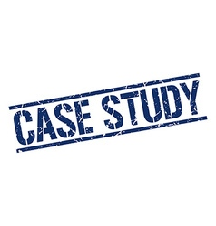 Case study stamp vector