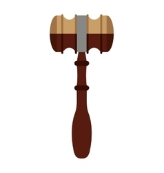 Wooden gavel isolated icon design vector