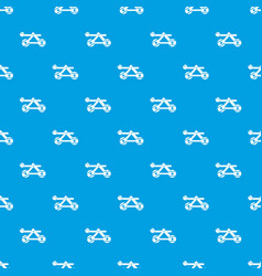 Ancient wooden catapult pattern seamless blue vector