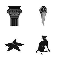 Animal tourism cafe and other web icon in black vector
