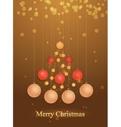 Christmas tree of balls vector image