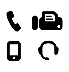 Contact phones vector image