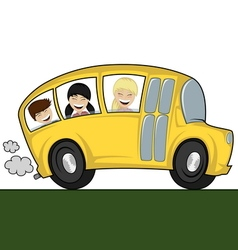 Cool bus vector image