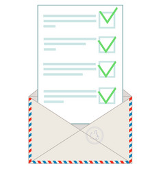 envelope with letter flat vector image vector image