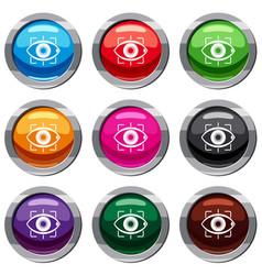 eye set 9 collection vector image vector image