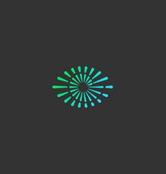Eye swirl spiral infinity logo creative vector